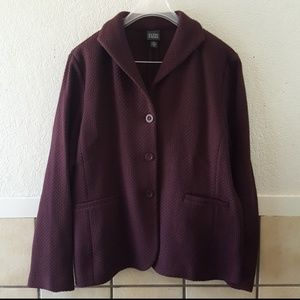 Eileen Fisher wool blend soft blazer Size XL  Euc